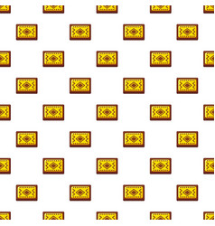 yellow and brown turkish carpet pattern vector image