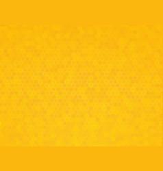 yellow hexagon texture vector image