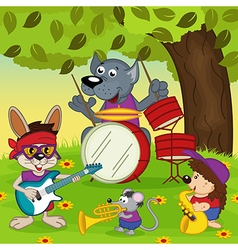 Animal musicians vector