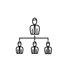 business organization icon vector image vector image