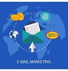 E-mail marketing concept art vector