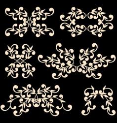 floral elements04 vector image