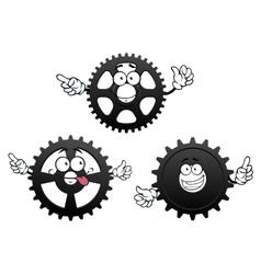 Funny cartoon cogwheels gears and pinions vector image vector image
