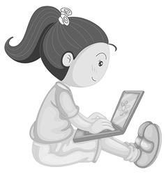 Girl working vector image vector image