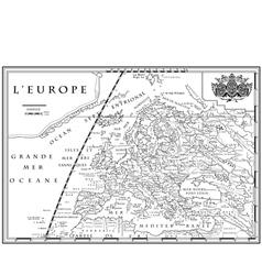 Old european map xviii century vector