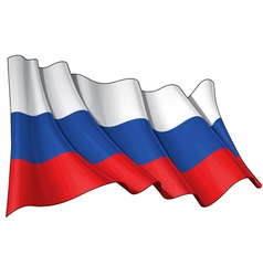Russia National Flag vector image vector image