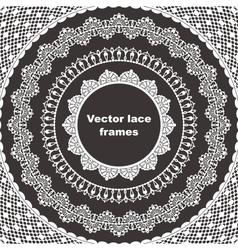 Set of lace frames vector image