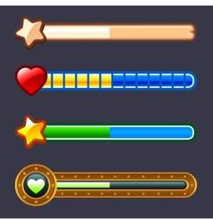 Energy progress game bar set vector image