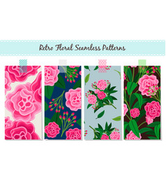 floral patterns set vintage english vector image