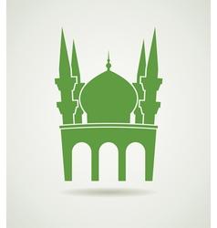 islamic mosque icon vector image vector image