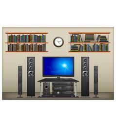 lounge room interior vector image