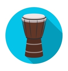 National brazilian drum icon in flat style vector image