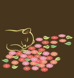 sleepy cat vector image vector image