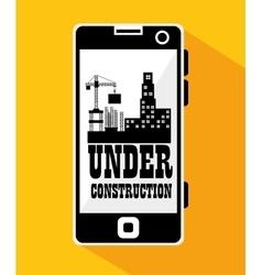 smartphone site under construction vector image