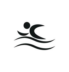 Summer Swim Water People Pictogram Icon vector image vector image