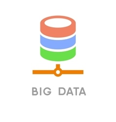 Big Data and Net Technology Icon vector image vector image