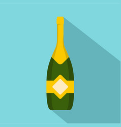 closed champagne icon flat style vector image