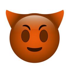 devil emoticon funny icon vector image vector image
