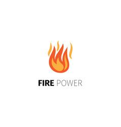 fire power logo template vector image