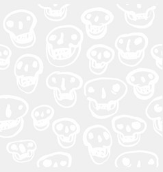 white on white skulls pattern vector image