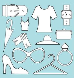 women fashion icons vector image