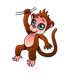 cartoon monkey isolated vector image vector image