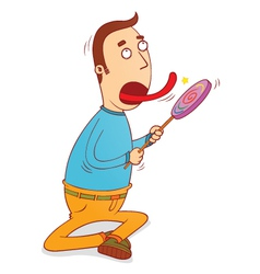 lollipop licker vector image vector image