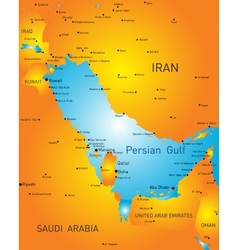 Persian gulf vector image