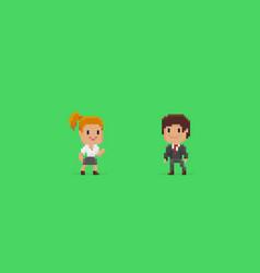pixel art characters vector image vector image