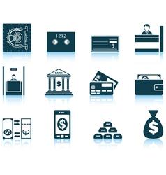 Set of twelve bank icons vector image vector image