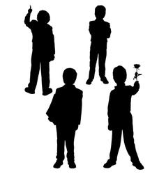 Silhouette of a man in a tuxedo vector image vector image