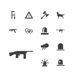 13 danger icons vector