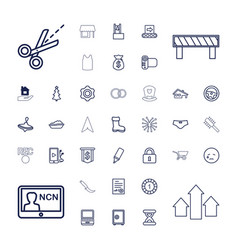 37 flat icons vector