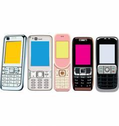 5 cellphones vector