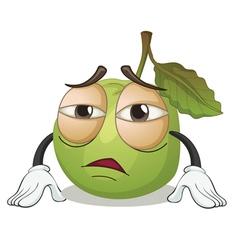 a green apple vector image