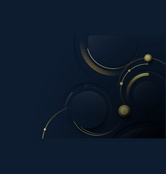 Abstract blue and gold luxury background vector
