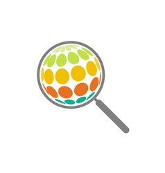 Abstract magnifying glass search on the surface vector