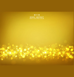 abstract of golden glitters bokeh on gold vector image