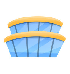 Airport building icon cartoon style vector