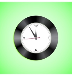 Alarm clock on green background vector image