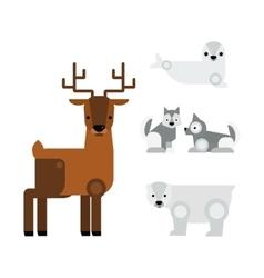 Alaska animals vector