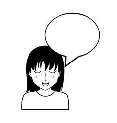 Anime girls talking vector