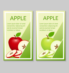 Apple brochure design vector