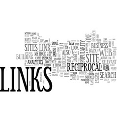 Are reciprocal links dead text word cloud concept vector