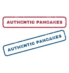 Authentic Pancakes Rubber Stamps vector image
