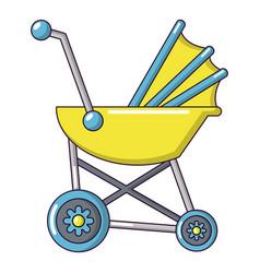 baby carriage retro icon cartoon style vector image