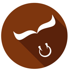 bull icon a long shadow vector image