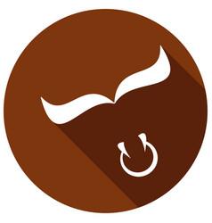 Bull icon a long shadow vector