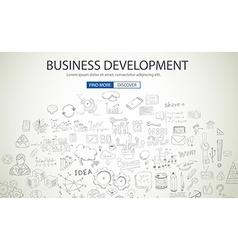 Business development concept wig doodle design vector