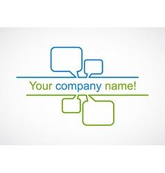 Business talk bubble logo icon vector